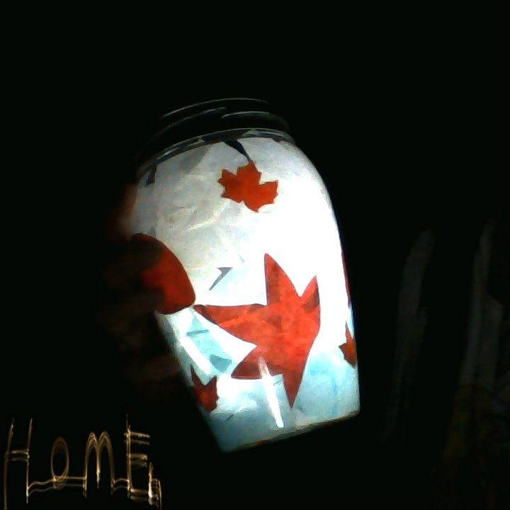 made a cuteeeee candle jar, loving itttt!! <3