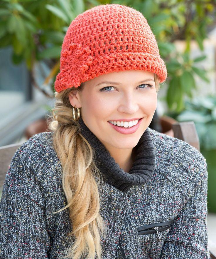 Free Crochet Hat Patterns Red Heart : Judy s Hat Crochet Pattern Red Heart Crochet, yarn ...