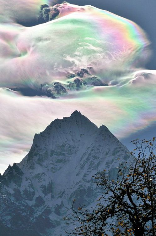 Cotton Candy Colors Clouds: Clouds, Ears Mornings, Sky, Nature, Ice Crystals, Rainbows Cloud, Natural Phenomena, Beautiful, Mount Everest