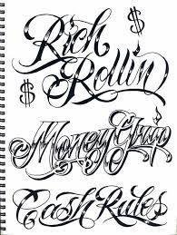 Resultado de imagen para gangster letter tattoo