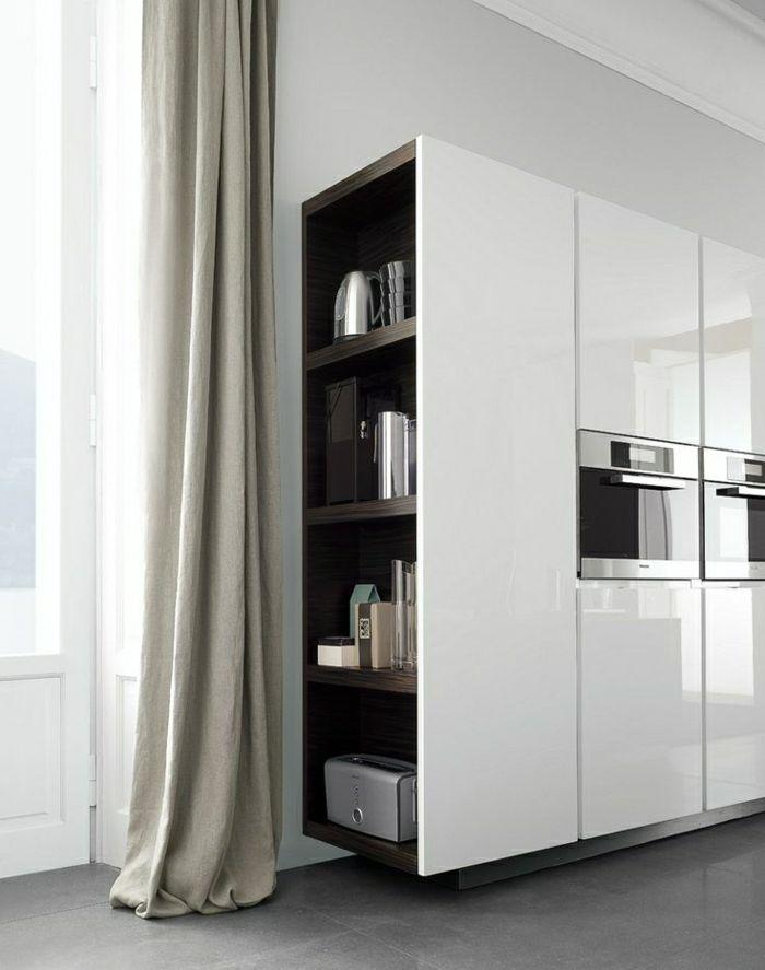Cuisinez avec du style dans une cuisine blanche laquée