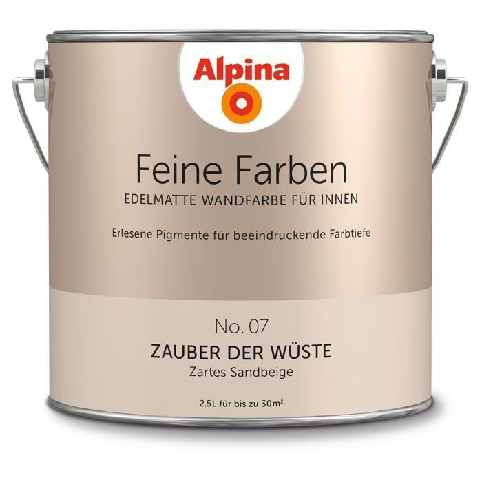 Alpina Wandfarbe Feine Farben No 07 Zauber Der Wuste Sandbeige 2 5 L ǀ Toom Baumarkt Feine Farben Wandfarbe Alpina Wandfarbe