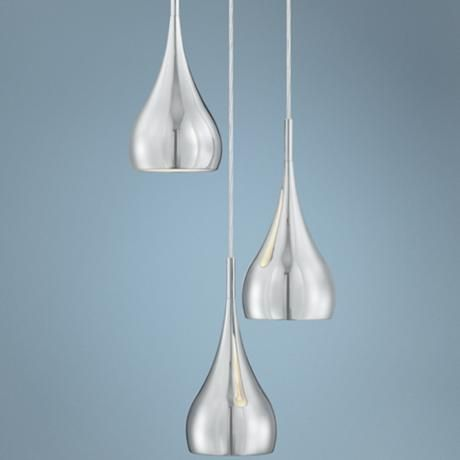 "Possini Euro Raindrop 6 1 4"" Wide Chrome Multi Light"