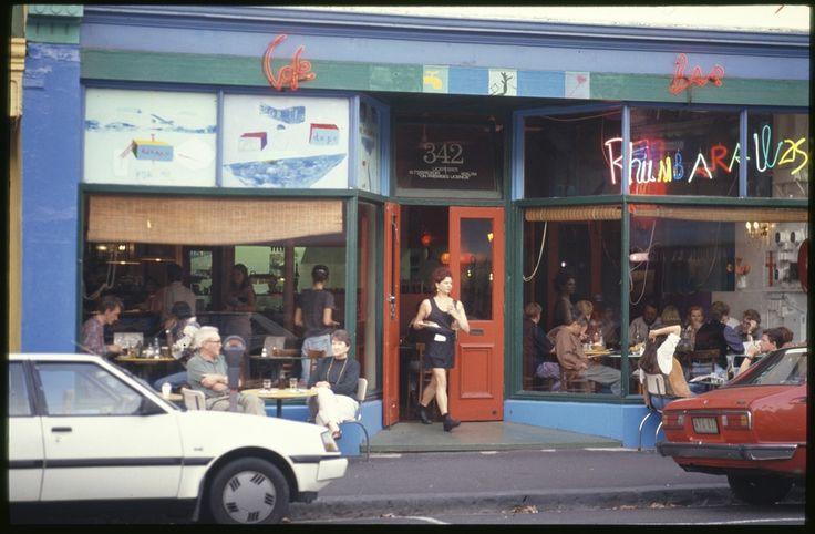 Café bar, 342 Brunswick Street, Fitzroy Photo by Rennie Ellis. Mid 1990s. Melbourne Australia