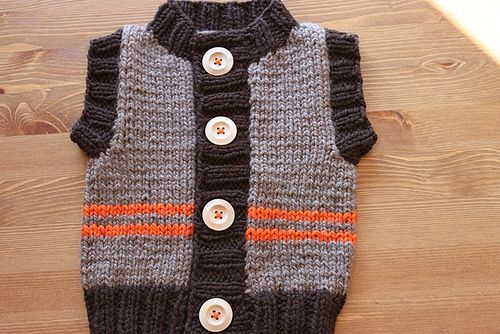 Chunky Monkey Toddler Vest - I want to make this for someone!