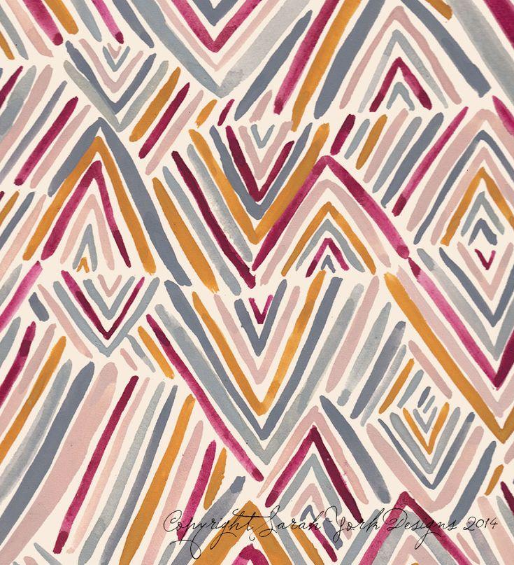 Sarah York 2014 | Textile & Surface Pattern Design | http://www.sarahyorkdesigns.com
