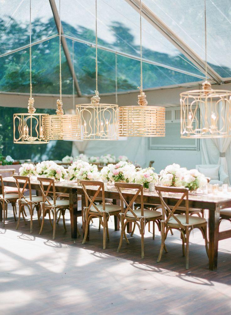 #lighting, #tents, #chandelier  Photography: Corbin Gurkin Photography - corbingurkin.com  Read More: http://www.stylemepretty.com/2014/09/22/emily-maynards-surprise-wedding-to-tyler-johnson/