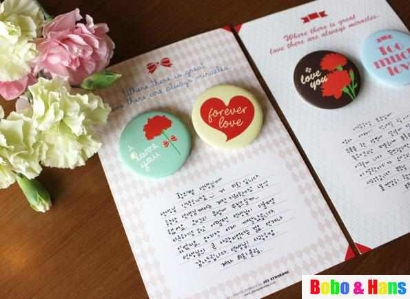 """Aliexpress.com : Buy Free Shipping/New """"I love you"""" pin Brooch / clip / 2 pcs/set / Fashion Style Gift / Wholesale from Reliable Brooch suppliers on Bobo & Hans"""