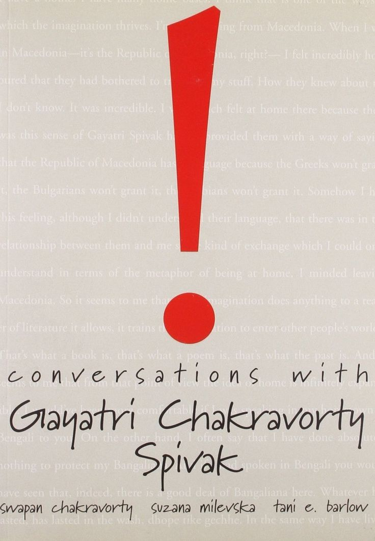 Conversations with Gayatri Chakravorty Spivak [Paperback] [Apr 12, 2007] Spiv]