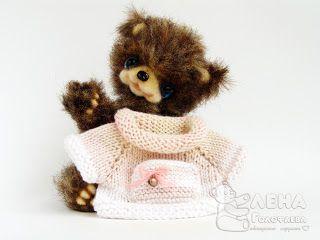 Мишки, их сестренки и братишки: МК свитер для мишки без швов.