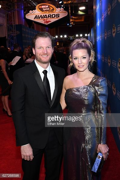 Sprint Cup Series driver Dale Earnhardt Jr. and his fiance Amy... News Photo | Getty Images
