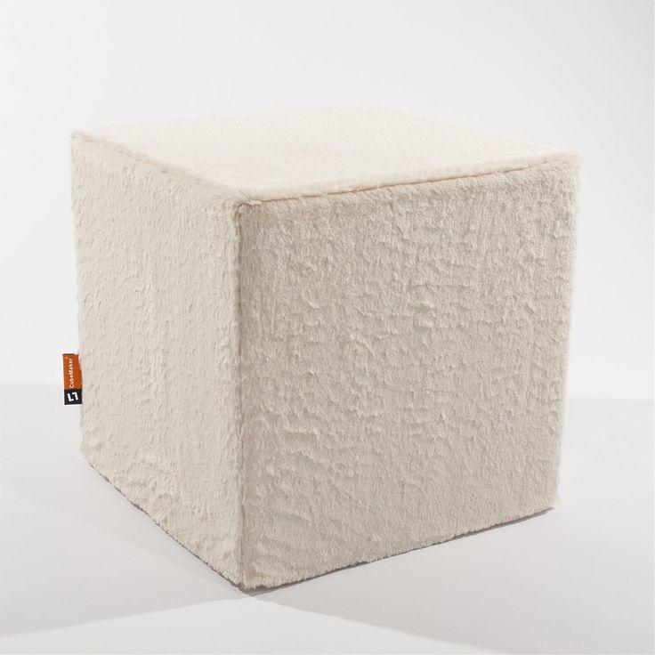 CubeMaker® - Weisse Robbe Designcube Sitzwürfel. #fell #fur #cube #furniture #möbel #design #robbe #seal