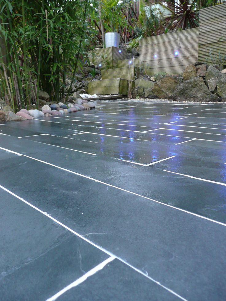Brazilian black #slate #paving #slabs #garden #design #patios #naturalstone http://mrs-stone-store.com/product/?stone=SLP003+brazilian+black+natural+slate+paving+slabs+600x300x20-30