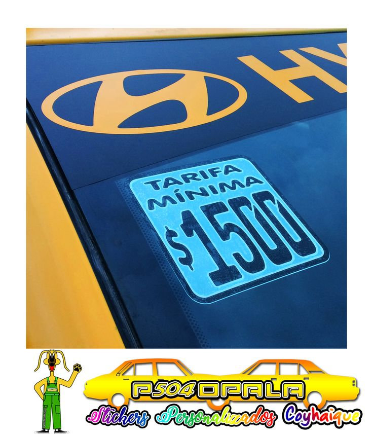 Sticker tafifario para taxi básico de Coyhaique