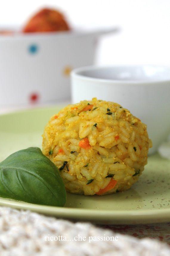 Polpette di riso, carote e zucchine