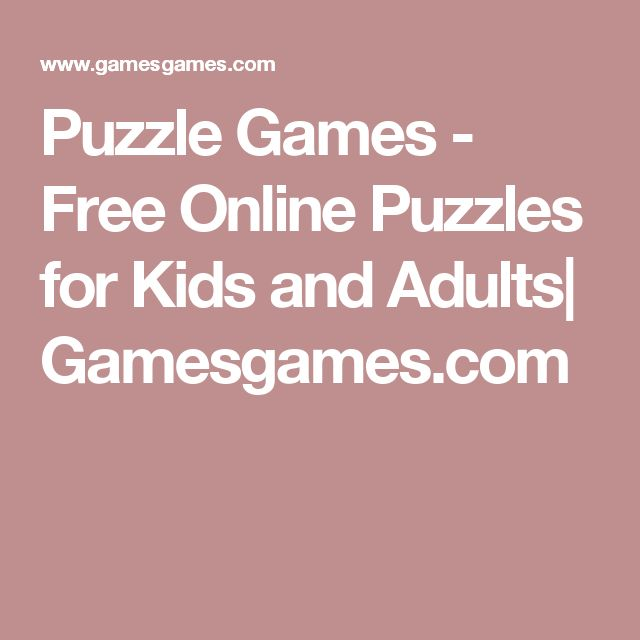 Puzzle Games - Free Online Puzzles for Kids and Adults| Gamesgames.com