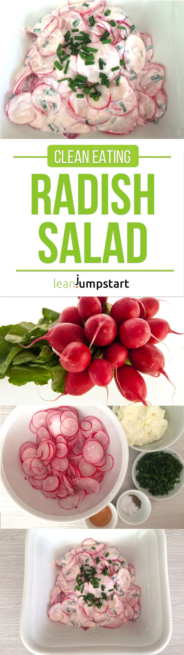 Here comes my absolute favorite radish salad recipe with sour cream and chives - a match in heaven to balance out the pungent taste of radishes. Click here!