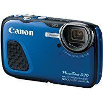 Canon PowerShot D30 Waterproof Digital Camera, Blue International Version (No warranty)