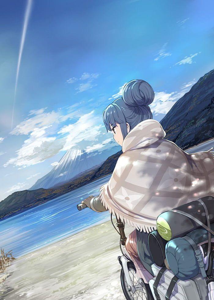 Yuru Camp Pemandangan Anime Ilustrasi Karakter Latar Belakang