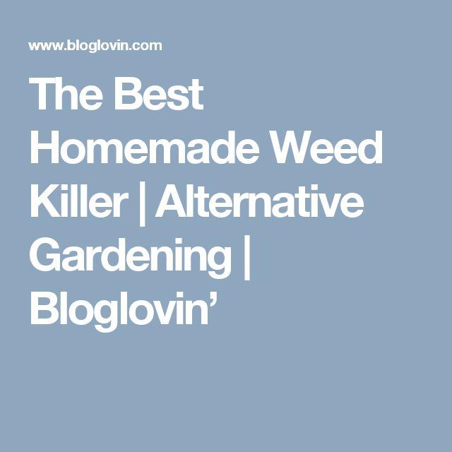 The Best Homemade Weed Killer | Alternative Gardening | Bloglovin'