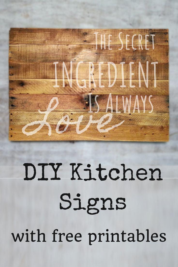 Easy Diy Kitchen Signs Kitchen Wall Decor Ideas Domestic
