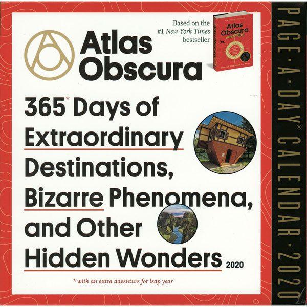 Atlas Obscura 2020 Page-A-Day Calendar Calendar Shop, How To
