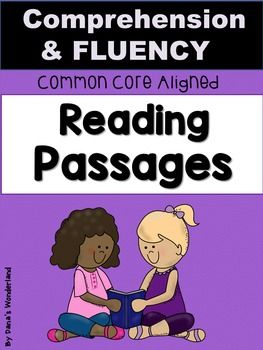 First Grade Reading Comprehension and Fluency Passages:This product contains 20 reading passages that target fluency and comprehension. The 20 reading passages are presented twice, in 2 versions.Version 1 teaches the kids to look in the text and find the text evidence.