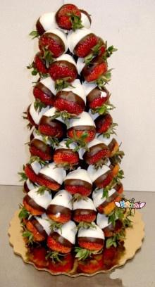 Savoury Chocolate Strawberry  Chrismas Tree