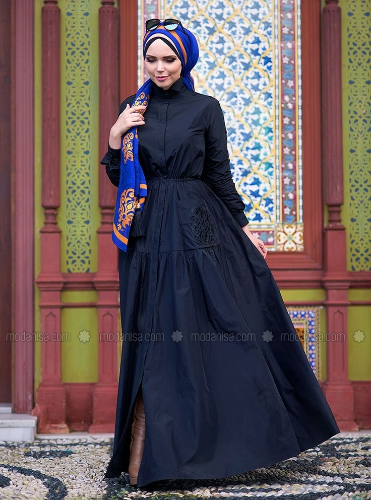Blazer Elbise - Siyah - Muslima Wear