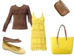 yellow lace dress by changeless