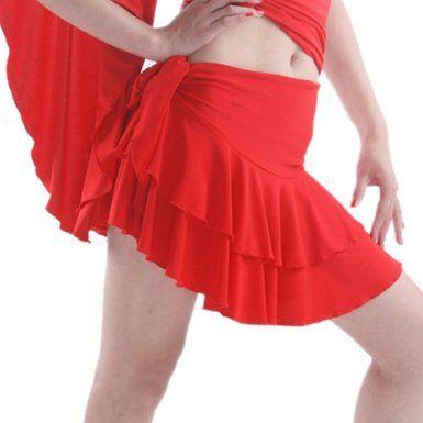 """SFS029RD Women's Ballroom Latin Salsa Tango Swing Dance Skirt (WAIST 27"""" -29"""")"""