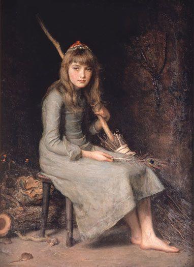 Cinderella - Millais John Everett Style: Realism Genre: literary painting Media: oil, canvas