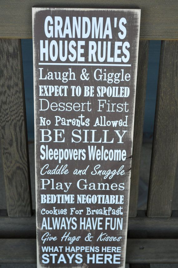Grandma Christmas Gift - Grandma's House Rules Sign - Great Christmas Gift for Grandma!