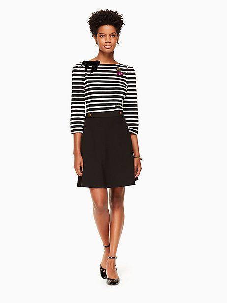 Kate Spade Crepe Military Skirt, Black - Size 10