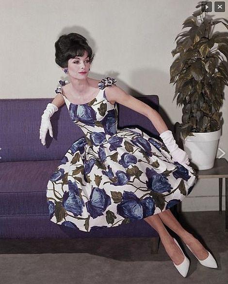 print dress, 1960s