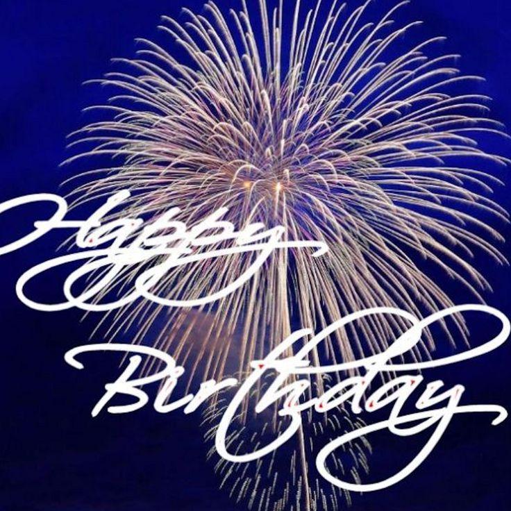 Happy Birthday Pin Birthday Gift for Happy Girl or Boy Fireworks Celebrate Birthdays in Full Color Photography Happy Birthday Script Button by RobsInsane on Etsy