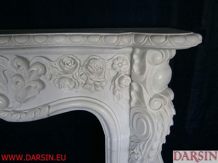 white marble fireplace DARSIN COMPANY www.darsin.eu custom-made mantel kominki/obudowy kominków z marmuru białego Darsin www.darsin.eu info@darsin.eu