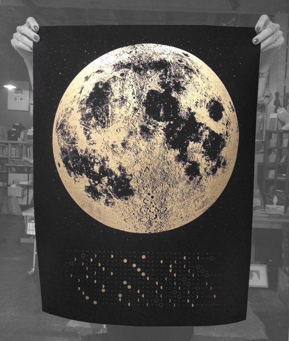 2015 Moon Phase Calendar posters are finally here and ready to ship out mid August!    Simple, scientific, modern and beautiful. Make a statement in