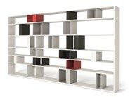 Open double-sided divider bookcase URBAN | Bookcase by MisuraEmme