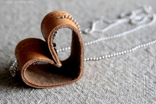 diy leather heart pendant - elsass-elsass