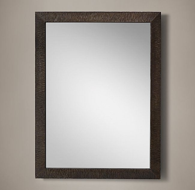 Hand Textured Wrought Iron Mirror Wide Frame Lake