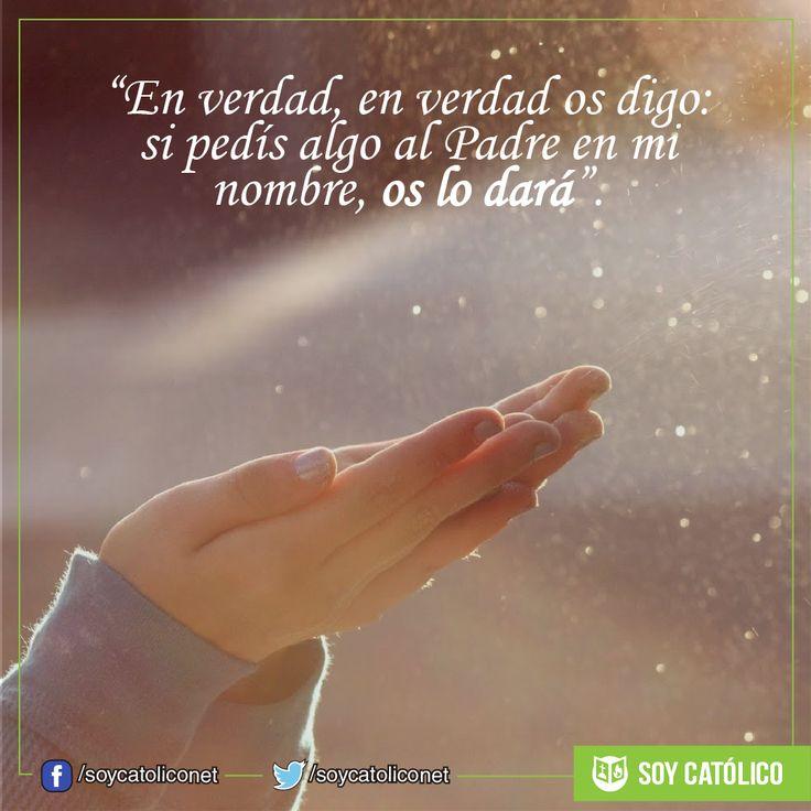 """""""En verdad, en verdad os digo: si pedís algo al Padre en mi nombre, os lo dará"""". (Jn 16, 23b-28)"""