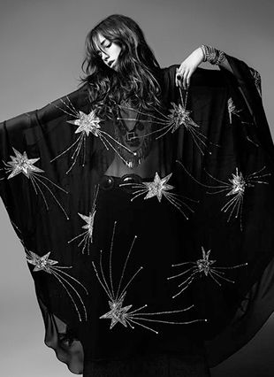 Saint Laurent boho gypsy witches fashion style for that romantic gothic sophisticated alternative to the general witch costume for a halloween fancy dress party that you can wear all year