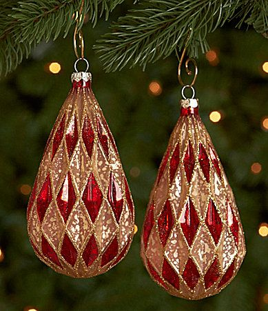 20 Best Christmas Orn Red Amp Gold Images On Pinterest