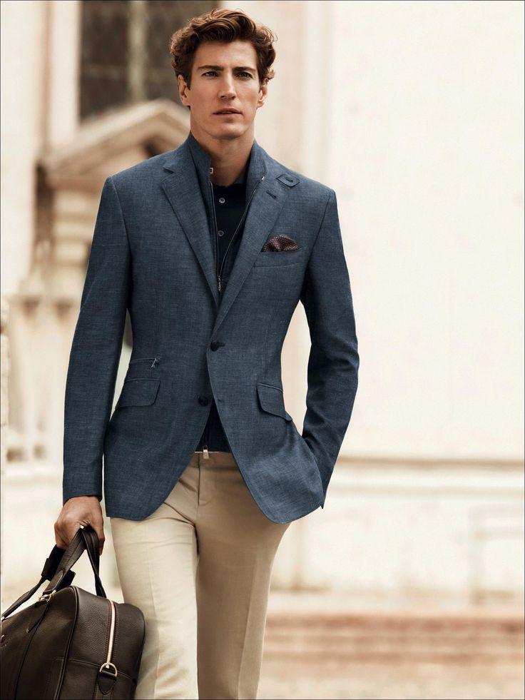 giacca uomo lino lana PE15 | Primavera Estate 2015 Collezione | Corneliani | Men's Fashion | Menswear | Men's Apparel | Business Casual | Sophisticated and Modern | Moda Masculina | Shop at designerclothingfans.com