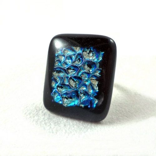 RG18  Exclusive fused dichroic glass ring by VerreArts on Etsy