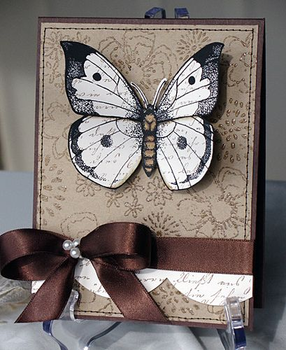Have always loved this card, the white butterfly is so beautiful against the darker background