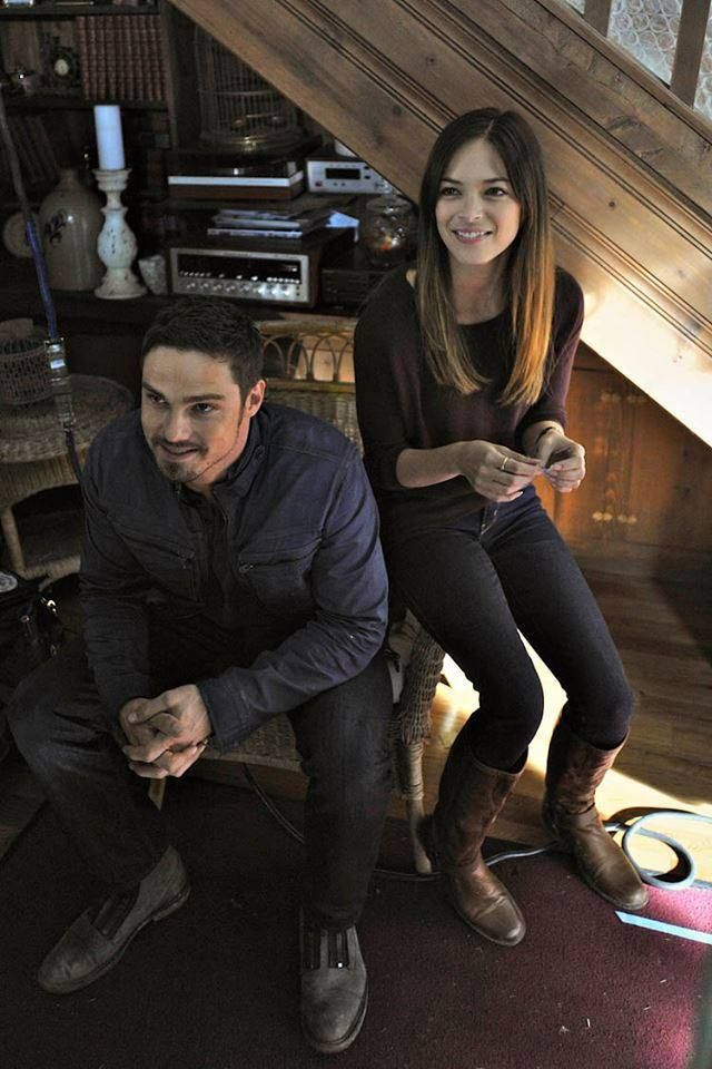Jay Ryan And Kristin Kreuk On The Set Of Beauty Beast Season Two