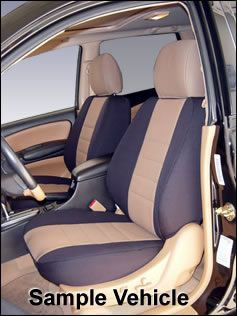 Wet Okole Neoprene Seat Covers with carbon fiber seat heaters in black and light gray