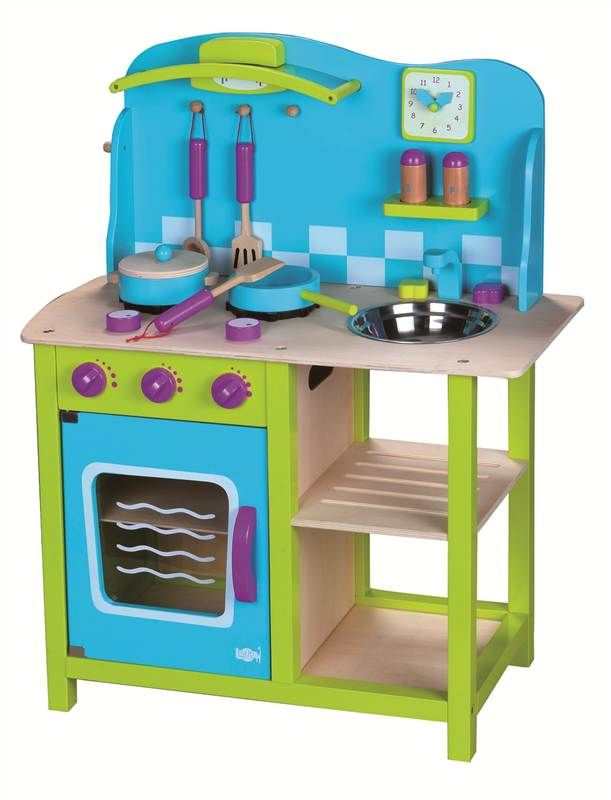 Lelin Wooden Cosy Kitchen Cookery Oven Childrens Role Play in Toys & Games, Creative Toys & Activities | eBay